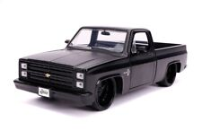 1/24 Jada JUST TRUCKS 1985 Chevrolet C-10 with Custom Wheels Matt Black