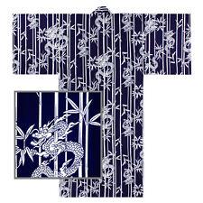 "Japanese 58""L Kimono Yukata Men's Bamboo/Dragon Pattern Cotton/ MADE IN JAPAN"