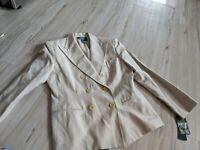 Lauren Ralph Lauren Women's Petite Blazer Suit Jacket Tan Lined Size 10P NWT