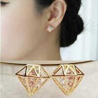 lady crystal aus zirkon rosa zappeln ohrring versilbert ohr hengste