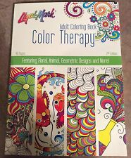 Liqui Mark Adult Coloring Book Color Therapy 48 Pages 2nd Edition Floral Animal