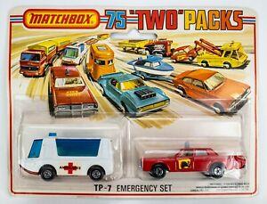 1976 Matchbox Two Packs TP-7 Emergency Set Stretcha Fetcha / Mercury Fire Chief