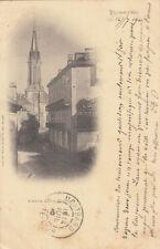 PLOMBIERES-LES-BAINS avenue louis français timbre noir 10 cent. 1900