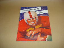 S.F. FORTY NINERS VS CHICAGO BEARS ~ GAME DAY PROGRAM ~ NOVEMBER 2, 1952