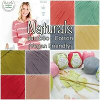 Stylecraft Naturals Bamboo+Cotton100g DK Vegan Friendly Knitting Crochet Yarn