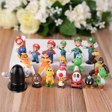 18pcs Super Mario Bros Action Figures Playset Figurine Toy Cake Topper Kids Gift