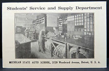 Hitchcock Student 's Service Michigan auto School USA postcard AK 1c (Lot 8587