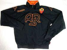 Kappa ASR Jacket Athletic Track Zip Up Polyester Youth Size XXL Black Orange