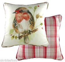 "17"" Country Robin Cushion Evans Lichfield Dpa318 43cm Cotton / Polyester Bird"