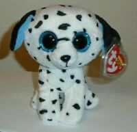 "Ty Beanie Boos - FETCH the Dalmatian Dog 6"" (GLITTER / SPARKLE EYES) NEW MWMT"