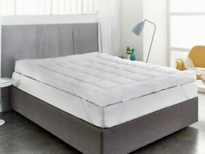 """Mattress Topper Microfiber 4"""" Inch /10cm Deep Luxury Quality Extra Soft All Size"""