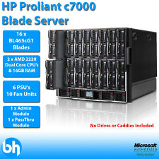 HP Proliant C7000 16x BL465c 2x AMD Opteron Dual Core 2220 32GB RAM Blade Server