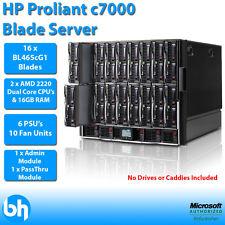 HP Proliant C7000 16x BL465c 2x AMD Opteron Dual Core 2220 32GB RAM