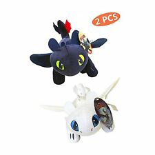How to Train Your Dragon Toothless Light & Night Fury Soft Toy Features 10inc.