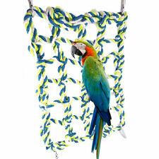 Parrot Net Pet Bird Swing Hanging Hammock Perch Toys Hamster Rope Ladder Cage