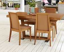 70% OFF! Set of 4 LUXURY Baumhaus OLTEN Dark Oak Dining Chairs - Mocha SRP £319