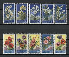 s33867 SAN MARINO 1957 MNH Fiori Flowers II 10vv