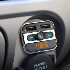 Kit de coche bluetooth inalámbrico transmisor FM Reproductor MP3 Audio Dual USB Cargador LCD