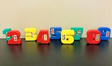 "Lot of 9 Children 3"" Toy Hollow Plastic Numbers, 1-9, Kids Math Counting Guc"