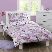 Minnie Mouse - Disney - Rainbows - Queen Bed Quilt Doona Duvet Cover Set