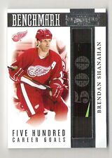 10-11 Panini Dominion BENCHMARK 500 Goals GU Stick Brendan Shanahan #/99 +jerse