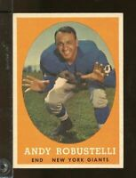 1958 Topps ANDY ROBUSTELLI New York Giants EXMT #15 (JY21)