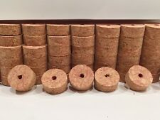 "Cork Rings 4 Deep Red Burl 1 1/4"" x 1/2"" x1/4"" Hole"