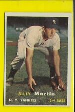 1957 Topps Billy Martin New York Yankees #62 ⭐️👀⭐️ EXMT