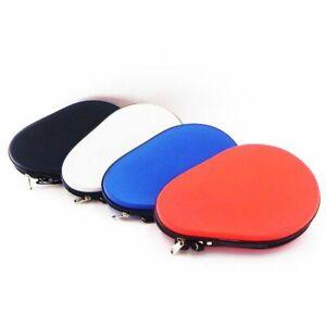 Waterproof Hard Faux Leathe Table Tennis Racket Case Bag Ping Pong Bat Pad Cover