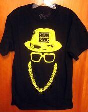 RUN-DMC rap med T shirt urban old-school Hollis gold chain tee Queens hip hop