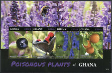 More details for ghana 2016 mnh poisonous plants 4v m/s wolfsbane strychnine tree trees stamps