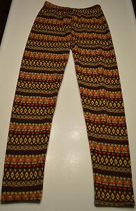 Women's Diamond Stripe Warm Fleece Lining Footless Patterned Leggings Size S-M