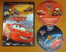 CARS 1 & 2 DVD Versions Genuine Disney ~ LIKE NEW + FREE Shipping
