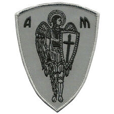 VEGASBEE® ARCHANGEL SAINT MICHAEL CROSS SHIELD CHRISTIAN BIKER REFLECTIVE PATCH