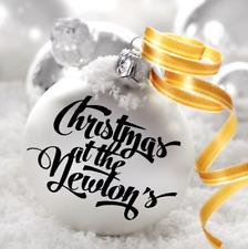 1x familia de vinilo autoadhesivo con nombre personalizado para Decoración De Navidad De Adorno