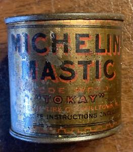 Rare Michelin Mastic Tube Tire Repair Kit Can Code Word Tokay