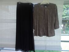 Alex Evenings Size S 3-Piece Long Dressy Women's Pants And Top 3/4 Sleeve