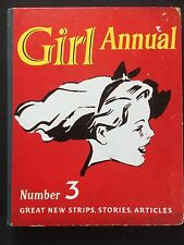 1954 Vintage Girl Annual Number 3 Strips Stories Articles 1952 Olympic Games Ski