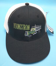 YOUNGSTROM TRUCKING (ID) black / white adjustable cap / hat - cotton blend