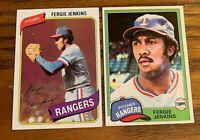 Fergi Jenkins Topps 1980 #390  and 1981 #158 - Rangers