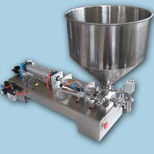 2500ml filling machine for sauce,cream,honey,one piston filler with 50L hopper