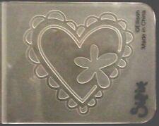 Sizzix Small Embossing Folder HEART W/ FLOWER fits Cuttlebug, Big Shot & Wizard