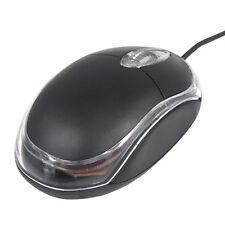 USB Optical Scroll Wheel Mouse for PC Laptop Mice Black Windows XP Vista 7 Mac