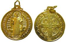 St. Saint Benedict gold rosary beads medal pendant