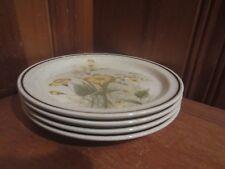 "4 Carlow Spring Floral Pattern Aran Stone 7.5"" Salad Plates Ireland Stoneware"