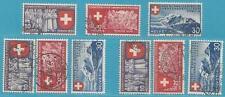 Schweiz aus 1939 MiNr.335-343 - Schweizerische Landesausstellung - Inschriften!