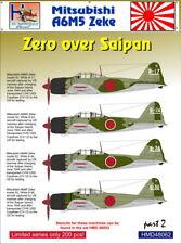 h-model DECALS 1/48 Mitsubishi A6M5 Zeke SOPRA Saipan, Parte 2 #48062