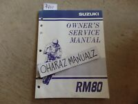 2000 SUZUKI RM80 Owner's Owners Owner Service Manual OEM