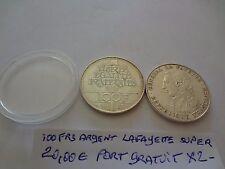 100frs argent prix pour 1 piece 1987 lafayette promo