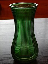 "Vintage 8.5"" HOOSIER GLASS Green Emerald Vase Ribbed Swirl Pattern 3 available"